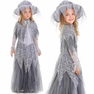 商品名 ハロウィン 衣装 子供 花嫁 素材 ポリエステル95%、その他5% カラー 写真通り  セッ...