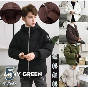 ダウン風ジャケット メンズ/中綿コート/綿入れ/無地/大きいサイズ/フード付き/ショート丈/ファッション/おしゃれ/トップス/アウター/送料無料|keepy