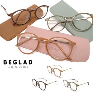 ★メール便送料無料★【おしゃれな老眼鏡(ケース付)】 BEGLAD BE1020 3色のトレンドカラーとゴールドのテンプルがオシャレ|keesplanning
