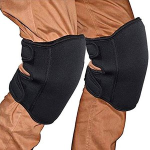 AQAA 膝当て(ひざあて) 掃除 膝パッド ニーパッド 膝プロテクター 作業用 2個入り ブラック 改良版|keiandk