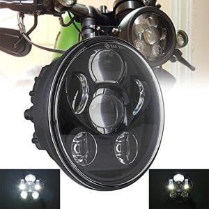 【 在庫処分セール 】VOSICKY(ボスキー) 5.75インチ ハーレーオートバイク用 LEDヘッドライト プロジェクター ブラック hi/lo 一 keiandk