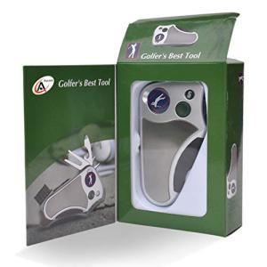 ゴルファーズベストツール ゴルフマルチツール オールインワン - スコアカウンター、ディボット修復ツール、ブラシ、ゴルフマーカー、クリート締め具、クラ|keiandk