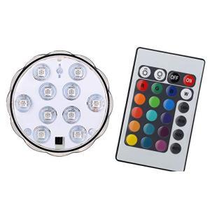 BigFox LED潜水ライト 水中LEDライト 10電球 リモコン付き 配線不要 防水 花瓶 水槽照明 水族館照明 イルミネーションおしゃれ(ライト|keiandk