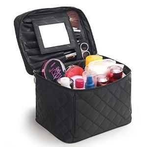 FYX コスメバッグ メイクポーチ 化粧ポーチ バニティケース トラベルポーチ 鏡付き ドレッサー 収納ボックス 化粧品 収納 雑貨 小物入れ 出張用|keiandk