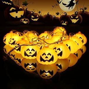 かぼちゃ ストリングライト パンプキン LEDランプ TopYart 電池式 電飾 デコレーション ハロウィーン お化け 玄関 庭 バー パーティーに|keiandk