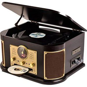 山善(YAMAZEN) キュリオム マルチレコードプレーヤー リモコン付き (CD/レコード/カセットテープ/AM FMラジオ/USB/SD) MRP|keiandk