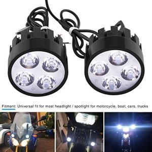 オートバイLEDスポットライト LEDヘッドライト 【2個セット】 バイク用LED フロントライト 内蔵4つLEDバルブ 3000LM 高輝度 夜間走 keiandk