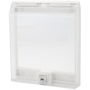 【TERADA】壁コンセント用セキュリティーカバー まもれーる・透明2連くん RDC70000CL|keiandk