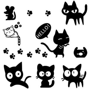 車用 ステッカー 猫 ねこ かわいい おもしろ 面白い 動物 防水ステッカー カーステッカー ベッドルーム スーツケース PC 汎用 車ドア 窓 ウォ keiandk