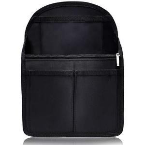 VILAU バッグインバッグ リュック 背面ポケットを大きく改良 トートバッグ 小型リュック用 PP底板付き 27cm×20cm×13cm|keiandk