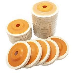 A'sTool ディスクサンダー グラインダー バフ 10枚 20枚 取替用 羊毛フェルト 10cm 汎用 (普通毛20枚)|keiandk