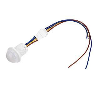 xuuyuu モーションセンサースイッチ 赤外線センサースイッチ LED人感センサー 人感センサースイッチ 丸型 屋外照明制御 屋外/屋内セキュリティ|keiandk