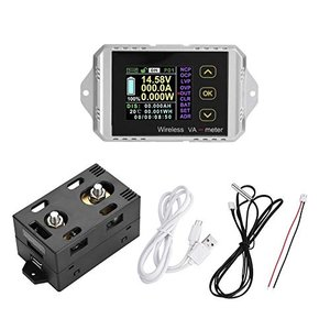 多機能直流電圧電流計 パワーメーター ワイヤレス電圧計 ワットテスター 電力計 ワイヤレスカラー液晶画面 電圧/電流/電力/充放電容量/ワット時/時間|keiandk