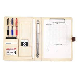 MT's SHOP クリップボード A4 二つ折り PU レザー 多機能 フォルダー バインダー オーガナイザー OF300 (茶色)|keiandk