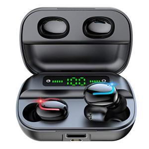 【2020 LED電量表示 Bluetooth5.0信号増強版】Bluetooth イヤホン 完全ワイヤレス イヤホン IPX7防水 自動ペアリング|keiandk
