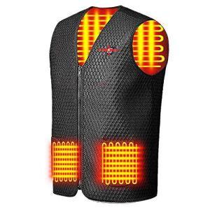 【2020最新 人気の電熱 ベスト シリーズ】 電熱ジャケット 防寒 秋冬用 USB加熱 3段温度調整 5つヒーター 水洗いでき 臭くない スキー ス|keiandk