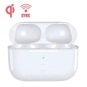 AirPods Pro 充電器、ワイヤレス充電 Bluetoothペアリング同期ボタン付き と互換性のある交換用Air Pods Pro充電器 Air|keiandk