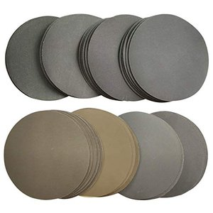 Aewio 40枚 125mm耐水 サンドペーパー #400 - #3000 丸型 サンダー用 鏡面磨き 紙やすり 400 600 800 1000|keiandk