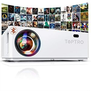 TOPTRO プロジェクター 7100lm 1920×1080リアル解像度4K対応 Bluetooth5.0対応 ±50°4Dデータ台形補正 207万|keiandk