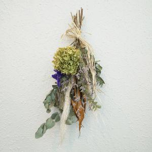 オータムスワッグ B おまかせ 壁飾り おうちフラワー ドライフラワー ギフト プレゼント|keihan-engei