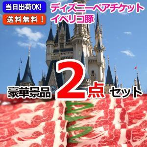 東京ディズニーリゾートペアチケット&イベリコ豚肩ロース 豪華2点セット 景品 二次会 ビンゴ 忘年会|keihin-happy