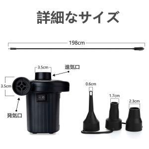 LHYAN 電動エアーポンプ 空気入れ&空気抜き両対応 3種類ノズル付き 電動 ポンプ シガ...