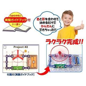 電脳サーキット500 国内正規代理店日本語実験ガイド付き 電気や電子回路の仕組みが学べるおもちゃ E...