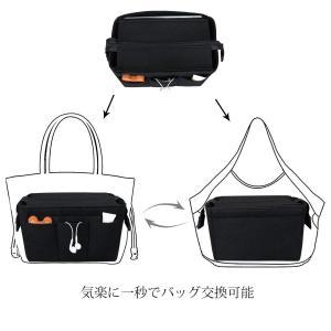 HyFanStr Bag in Bag フェルト バッグインバッグ たて型 インナ バッグ レディー...