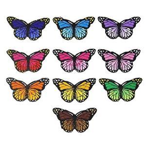 アソート10枚 ちょうちょう 蝶 刺繍アイロンアップリケワッペン 並行輸入品