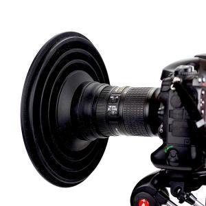 ULH レンズフード 夜景撮影 窓ガラスの向こうの景色をクリア撮影 映り込み防止 簡単装着 標準レン...