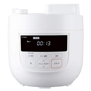 シロカ 電気圧力鍋 SP-4D151 ホワイト [大容量4Lモデル/高圧力90Kpa/1台6役(圧力・無水・蒸し・炊飯・スロー調理・温め直し|keihouse