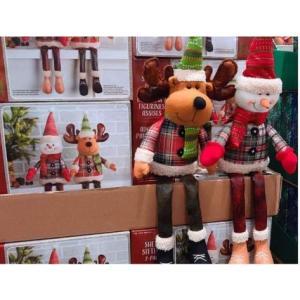 クリスマシェルフシッター ぬいぐるみ スノーマン & ヘラジカ セット クリスマス トナカイ ヘラジカ スノーマン 雪だるま Christm|keihouse