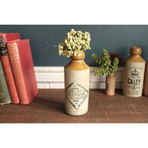 英国(イギリス)アンティークストーンビアボトル/花瓶/一輪挿し/?器陶器(a1900223-4) keihouse