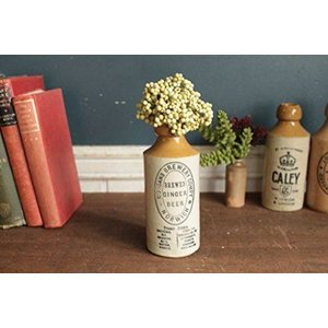 英国(イギリス)アンティーク陶器ジンジャーボトル/花瓶/一輪挿し/雑貨(a1900223-5) keihouse