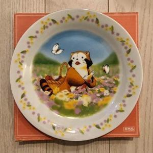あらいぐま ラスカル 皿 「花畑」 2003年 セブンイレブン キャンペーン 世界名作劇場 特製絵皿|keihouse