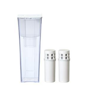 (中古品)三菱ケミカル・クリンスイ ポット型浄水器 CP012 + カートリッジ CP012W-WT