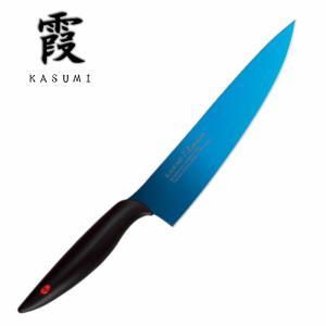 霞(KASUMI) スミカマ(SUMIKAMA) 剣型包丁 200mm チタンコーティング ブルー ...