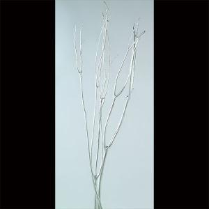 ドライ素材・ミツマタ・シルバー・全長80〜90cm・6本セット(1束3本×2束)(三又/三椏)(枝物/枝もの/ツイッグ/ブランチ)(天然素材/自然素材)(アレンジ)
