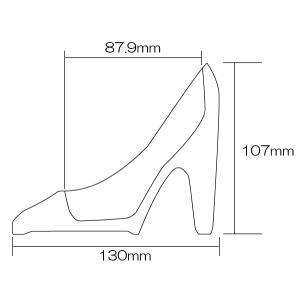 ガラス花器・ガラスのハイヒール(全長13cm×全高10.7cm×全幅5.8cm)(ガラスの靴)(花瓶/花入れ/フラワーベース)(フラワーアレンジメント/ディスプレイ)|keishin|04