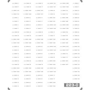 223系 日根野 車番/表記(2)(0番台車番)【単色刷りインレタ〈グレー〉】|keishinmokei