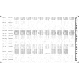 207系 車番(500番台(2)・1000番台(2)・2000番台)【単色刷りインレタ〈グレー〉】|keishinmokei
