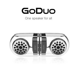 KNZ GoDuo Bluetooth ステレオ スピーカー ブラック マグネット対応 IPX5 ポータブル ワイヤレス 防塵 防滴 goduobk 宅|keitai-kazariya