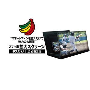 ラスタバナナ iPhone スマホ用 折りたたみ式収納 拡大スクリーン 12インチ ブラック 薄型 持ち運びに便利 薄型 RSRLENS1201BK|keitai-kazariya