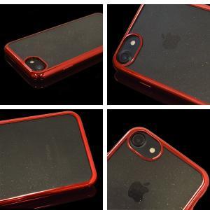 ラスタバナナ iPhone8 iPhone7 iPhone6s ケース カバー ソフト TPU 耐衝撃吸収 サイドメッキ メタルフレーム ラメ キラキラ アイフォン スマホケース keitai-kazariya 08