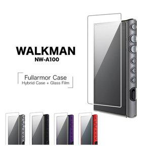 WALKMAN A100シリーズ NW-A100 ケース/カバー ハイブリッド 液晶保護ガラス付き フルアーマー ウォークマン|keitai-kazariya