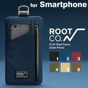ROOT CO.  スマホポーチ スマートフォン iphone アイフォン アイホン ケース アウトドア ブランド グッズ コーデュラ素材 耐摩耗性 rootco. PLAY Shell Pouch.|keitai