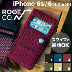 iPhone6s iPhone6 窓付 手帳型ケース Phone6s ウィンドウ フリップ ケース アイフォン6s 手帳型 横 ケース ROOT CO. rootco.|keitai