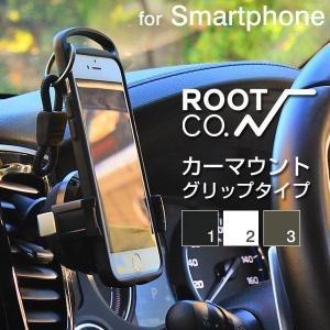 ROOT CO. スマホ カーマウント 車載 ホルダー iphonex iphone8 アイフォンx スマートフォン スマート カーマウント PLAY Grip.|keitai