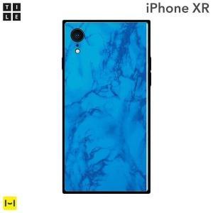 iPhone XR EYLE スクエア型 iPhoneケース TILE(大理石/ブルー)|keitai