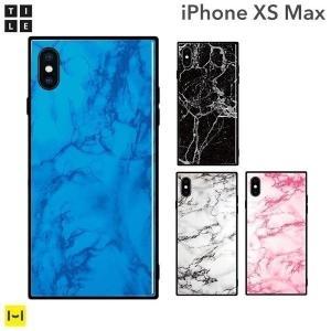 iphonexs max ケース アイフォンxs max ケース iPhone XS Max EYLE スクエア型 iPhoneケース TILE 大理石|keitai